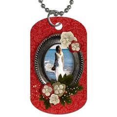 Love/blessings/vintage Dog Tag (2 Sides) By Mikki   Dog Tag (two Sides)   F6ygjxguc8kn   Www Artscow Com Front