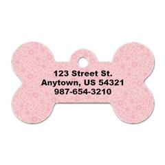 Pink Damask & Flowers  Bone Dog Tag (2 Sides) By Mikki   Dog Tag Bone (two Sides)   Snvmma3lao6a   Www Artscow Com Back