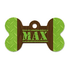 Manly/wood Grain  Bone Dog Tag (2 Sides) By Mikki   Dog Tag Bone (two Sides)   98wgec2qb48x   Www Artscow Com Front