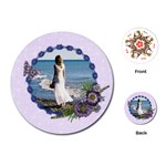 Purple/Heal/flowers-Round Playing cards - Playing Cards (Round)
