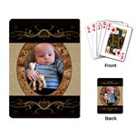 Brown Design Playing Cards - Playing Cards Single Design