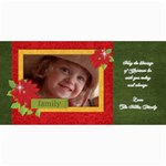 Christmas/poinsettia-Photo Cards - 4  x 8  Photo Cards