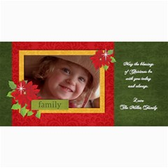 Christmas/poinsettia Photo Cards By Mikki   4  X 8  Photo Cards   5p1pqsx4ozy5   Www Artscow Com 8 x4 Photo Card - 4