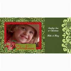 Christmas/damask Photo Cards By Mikki   4  X 8  Photo Cards   Itol5wqw68dy   Www Artscow Com 8 x4 Photo Card - 4
