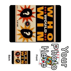 Who Would Win Casero By Neftali Blanco   Multi Purpose Cards (rectangle)   T53kapxdyr8b   Www Artscow Com Back 50