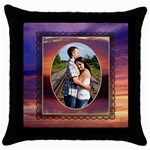 Romantic Sunset Throw Pillow - Throw Pillow Case (Black)