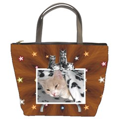 My Cat Bucket Bag By Lil    Bucket Bag   Hsal5mmtglj6   Www Artscow Com Front