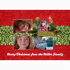 Christmas/holiday 5x7 Photo Card By Mikki   5  X 7  Photo Cards   Cdtyzf9dqvmd   Www Artscow Com 7 x5 Photo Card - 1