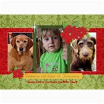 Christmas Magic/poinsettia-5x7 Photo Card - 5  x 7  Photo Cards