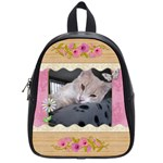 Pretty Pink Floral School Bag (Small)