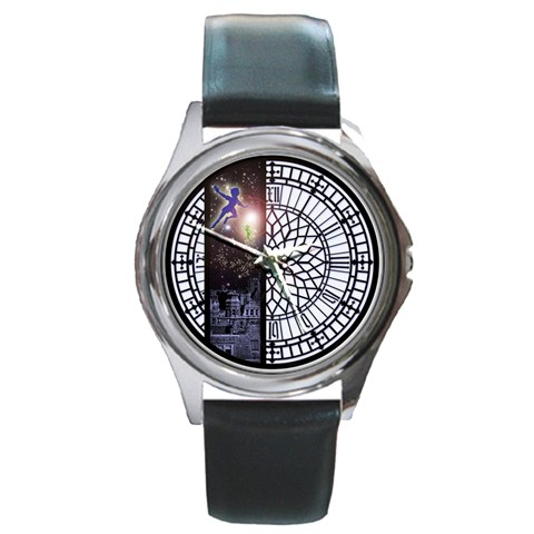 Peter Pan By Timm Miller   Round Metal Watch   Ok0f8sknt0bv   Www Artscow Com Front