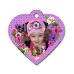 Miranda heart dog tag* - Dog Tag Heart (Two Sides)
