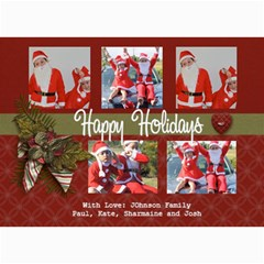 5x7 Photo Card: Happy Holidays By Jennyl   5  X 7  Photo Cards   61nxsxrdod8m   Www Artscow Com 7 x5 Photo Card - 1