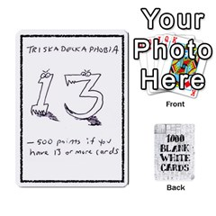 1000 Blank White Cards By Jack Reda   Playing Cards 54 Designs   4t4eturezzv5   Www Artscow Com Front - Diamond8