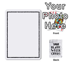 1000 Blank White Cards By Jack Reda   Playing Cards 54 Designs   4t4eturezzv5   Www Artscow Com Front - Diamond9