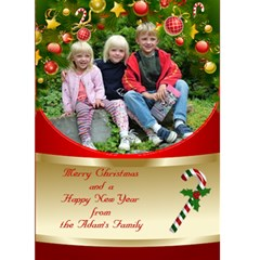 Christmas And New Year 5x7 Card By Deborah   Greeting Card 5  X 7    X212k0c2oc3p   Www Artscow Com Front Cover