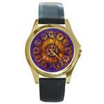 Sorcerer s Apprentice - Round Gold Metal Watch