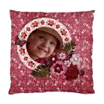 Pink Floral/Girly-Cushion Case (Two Sides) - Standard Cushion Case (Two Sides)