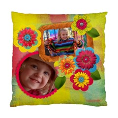 Vibrant/artistic Flowers Cushion Case (two Sides) By Mikki   Standard Cushion Case (two Sides)   Etguxrnccjxr   Www Artscow Com Front
