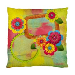 Vibrant/artistic Flowers Cushion Case (two Sides) By Mikki   Standard Cushion Case (two Sides)   Etguxrnccjxr   Www Artscow Com Back