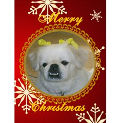 Snowflake Christmas Card 1 By Kim Blair   Greeting Card 4 5  X 6    1ti6tnww601p   Www Artscow Com Front Cover
