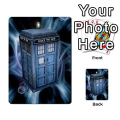 Doctor Who V2 File  By Mark Chaplin   Playing Cards 54 Designs   Fu3d7ytm53dy   Www Artscow Com Back