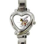 white rabbit - Heart Italian Charm Watch