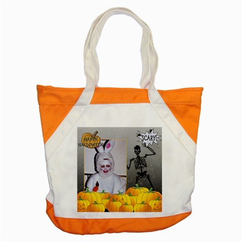 Happy Halloween Accent Tote By Lil    Accent Tote Bag   W0mjqvdaawpi   Www Artscow Com Front