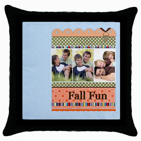 Fall By Joely   Throw Pillow Case (black)   Isv36ywy1duo   Www Artscow Com Front