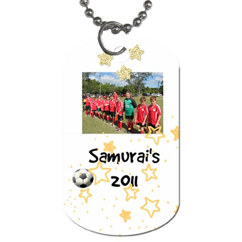 Samurai s Dog Tag By Taryn Powell   Dog Tag (one Side)   E1pbmx6f0i02   Www Artscow Com Front