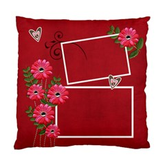 Pillow Case (two Sides)  Hot Red  By Jennyl   Standard Cushion Case (two Sides)   D6ubd7arm12v   Www Artscow Com Front