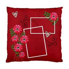 Pillow Case (two Sides)  Hot Red  By Jennyl   Standard Cushion Case (two Sides)   D6ubd7arm12v   Www Artscow Com Back