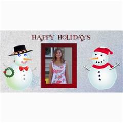 Happy Holidays 4 X 8 Christmas Photo Card By Kim Blair   4  X 8  Photo Cards   Qdjd0qq4gxss   Www Artscow Com 8 x4 Photo Card - 9
