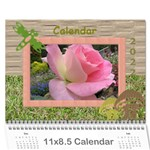 My garden 2018 (any year) Calendar - Wall Calendar 11  x 8.5  (12-Months)