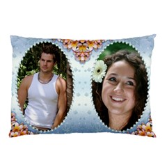 Blue Pearl Framed Pillow Case (2 Sided) By Deborah   Pillow Case (two Sides)   6dfdc0qpnvai   Www Artscow Com Front