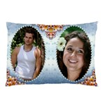 Blue Pearl Framed Pillow Case (2 sided) - Pillow Case (Two Sides)
