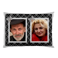 All Checked Out In Silver Pillow Case (2 Sided) By Deborah   Pillow Case (two Sides)   Qzobmnqm1qat   Www Artscow Com Front
