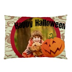 Halloween By Wood Johnson   Pillow Case (two Sides)   Q1wt8sfmbkl6   Www Artscow Com Back