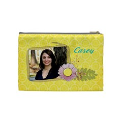 Sunshine & Flowers Cosmetic Bag (m)  By Mikki   Cosmetic Bag (medium)   L0ldbtncxugu   Www Artscow Com Back