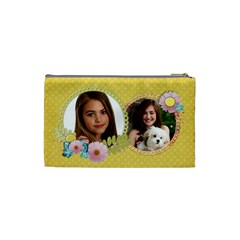 Sunshine & Flowers Cosmetic Bag (s)  By Mikki   Cosmetic Bag (small)   Zpbsj35bb0gh   Www Artscow Com Back