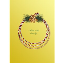 Lemon Christmas Wreath 5x7 Card By Deborah   Greeting Card 5  X 7    Sftm0gdfwvbc   Www Artscow Com Back Cover