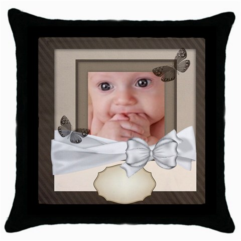 Baby By Joely   Throw Pillow Case (black)   7xnc2qsgfe3j   Www Artscow Com Front