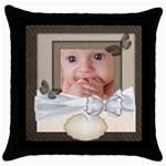 baby - Throw Pillow Case (Black)