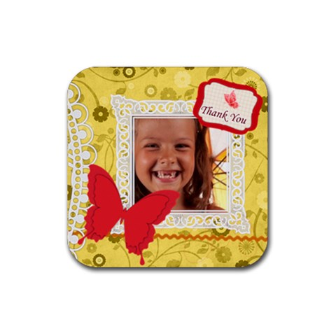 Thank You By Joely   Rubber Coaster (square)   Ooje616orsq5   Www Artscow Com Front