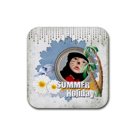 Summer By Joely   Rubber Coaster (square)   5aous7e6ur33   Www Artscow Com Front