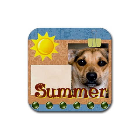 Summer By Joely   Rubber Coaster (square)   Kvktjgq21p1t   Www Artscow Com Front