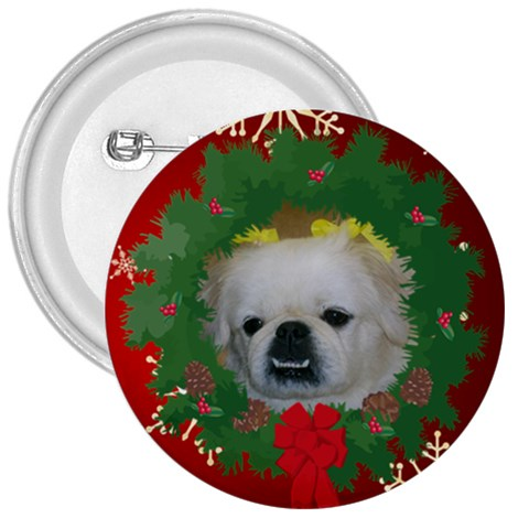 Prissy Christmas Button By Kim Blair   3  Button   4wvkkmip32la   Www Artscow Com Front