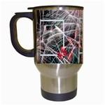 Fireworks travel Mug - Travel Mug (White)