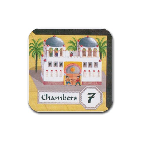 Alhambra By Mauricio Torselli   Rubber Coaster (square)   Pd4po7iepmrh   Www Artscow Com Front