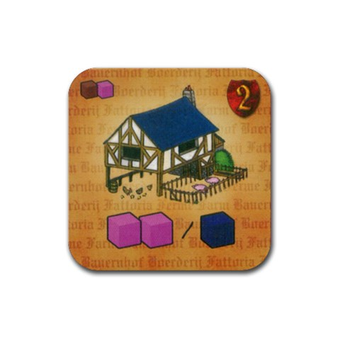 Caylus By Mauricio Torselli   Rubber Coaster (square)   J5ls24m1n90l   Www Artscow Com Front